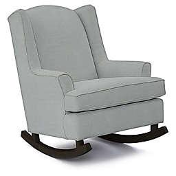 Best Chairs Custom Willow Runner Rocker in Blue Fabrics