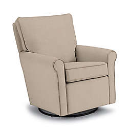 Best Chairs Custom Kacey Swivel Glider in Tan Fabrics