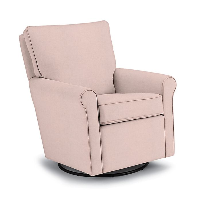 Alternate image 1 for Best Chairs Custom Kacey Swivel Glider in Pink Fabrics