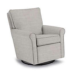 Best Chairs Custom Kacey Swivel Glider in Grey Fabrics