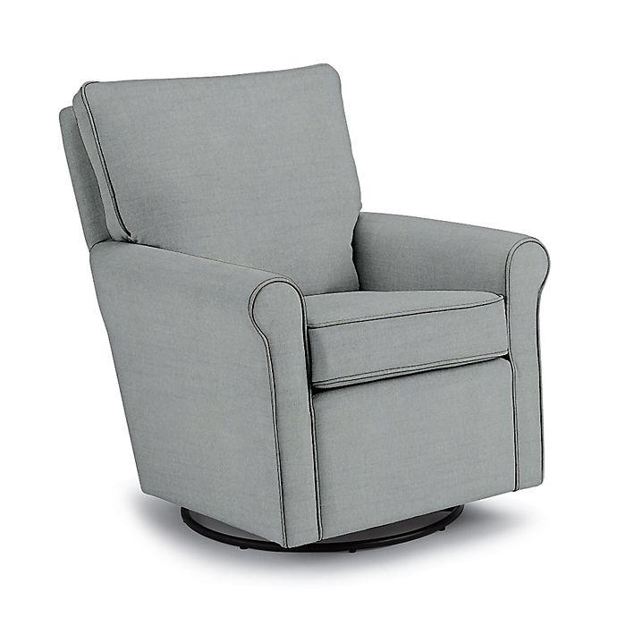 Alternate image 1 for Best Chairs Custom Kacey Swivel Glider in Blue Fabrics