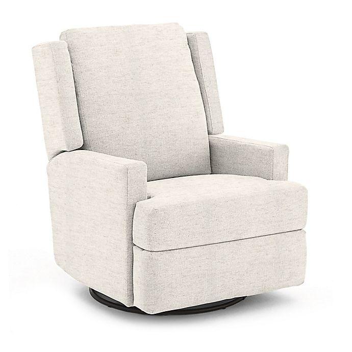 Fine Best Chairs Custom Ainsley Swivel Glider Recliner In Cream Fabrics Creativecarmelina Interior Chair Design Creativecarmelinacom