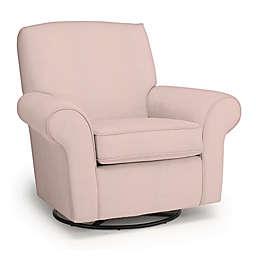Best Chairs Custom Mandy Swivel Glider in Pink Fabrics