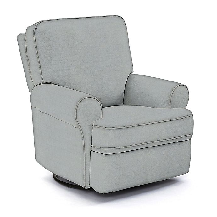 Superb Best Chairs Custom Tryp Swivel Glider Recliner In Blue Fabrics Creativecarmelina Interior Chair Design Creativecarmelinacom