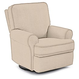 Best Chairs Custom Tryp Swivel Glider Recliner in Tan Fabrics