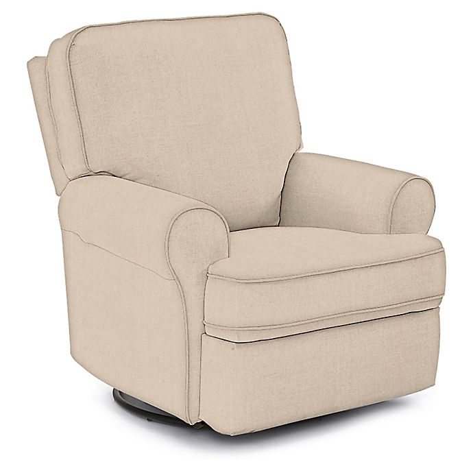 Best Chairs Custom Tryp Swivel Glider Recliner in Tan