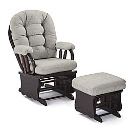 Best Chairs Custom Bedazzle Glide Rocker and Ottoman