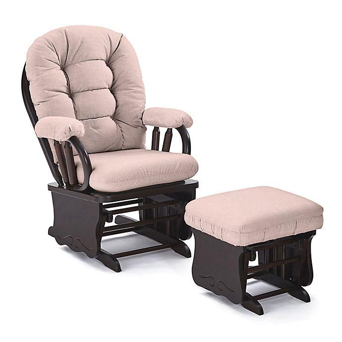 Super Best Chairs Custom Bedazzled Glide Rocker And Ottoman In Pink Fabrics Customarchery Wood Chair Design Ideas Customarcherynet