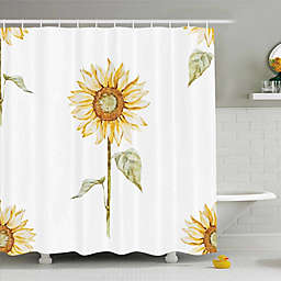 Sunflower Shower Curtain in Yellow/Green