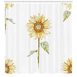 Sunflower 69-Inch x 75-Inch Shower Curtain in Yellow/Green