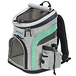 Katziela Voyager Backpack Pet Carrier in Grey/Green