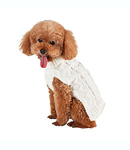 Bee & Willow™ Home Suéter tejido grande para perro en blanco