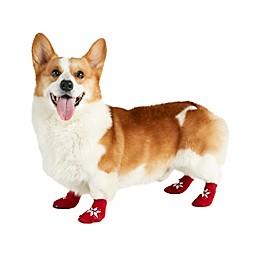 Bee & Willow™ Fair Isle Printed Dog Socks in Red