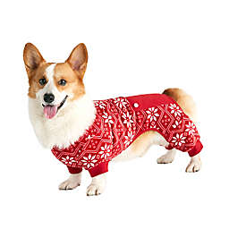 Bee & Willow™ Home Fair Isle Printed X-Large Dog Pajamas in Red