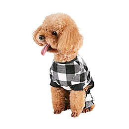 Bee & Willow™ Home Buffalo Check Dog Pajamas in Black/White