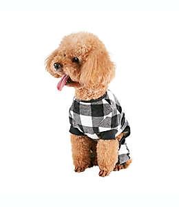 Pijama chica para perro Buffalo Check Bee & Willow™ Home en negro/blanco