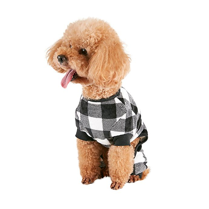 Alternate image 1 for Bee & Willow™ Home Buffalo Check Large Dog Pajamas in Black/White