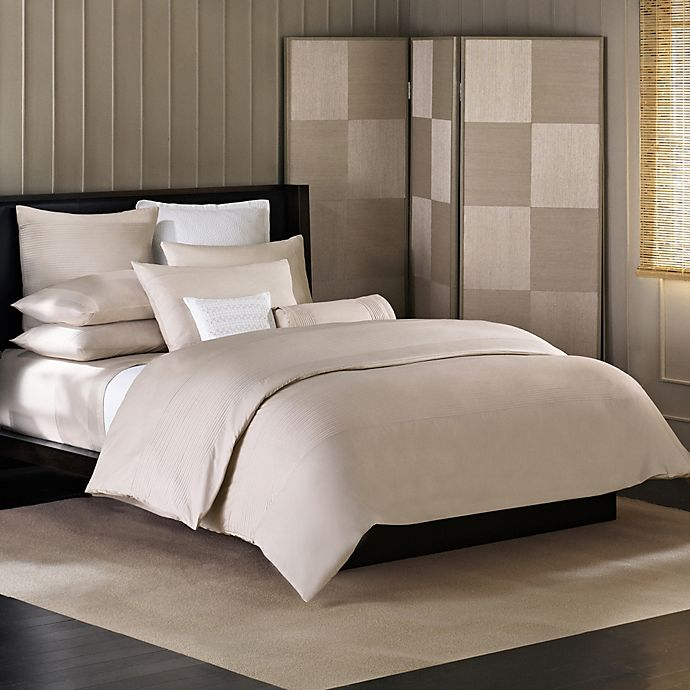 Alternate image 1 for Barbara Barry® Simplicity Stitch Duvet Cover in Silver Birch