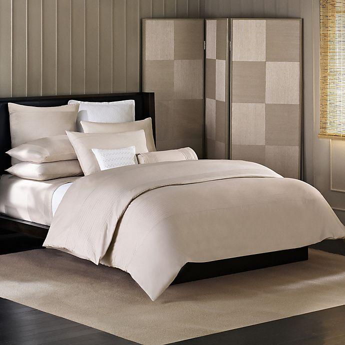 Alternate image 1 for Barbara Barry® Simplicity Stitch European Pillow Sham in Silver Birch