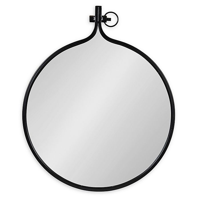 Alternate image 1 for Kate and Laurel® Yitro 23.5-Inch x 28-Inch Oval Wall Mirror in Bronze