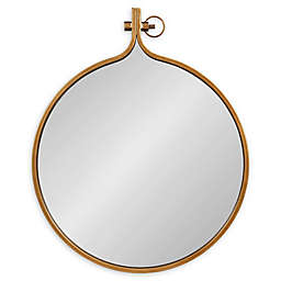 Kate and Laurel® Yitro 23.5-Inch x 28-Inch Oval Wall Mirror in Bronze