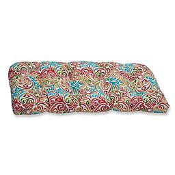 Pillow Perfect Corinthian Dapple Wicker Loveseat Cushion