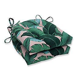 Pillow Perfect Swaying Palms Capri Reversible Chair Pad (Set of 2)