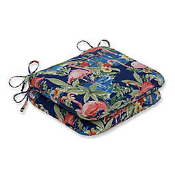 Pillow Perfect Flamingo Lagoon Rounded Chair Cushions (Set of 2)