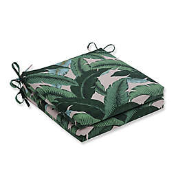 Pillow Perfect Swaying Palms Capri 20-Inch Square Seat Cushions (Set of 2)