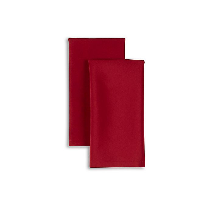 Alternate image 1 for Essex Napkins in Red (Set of 2)