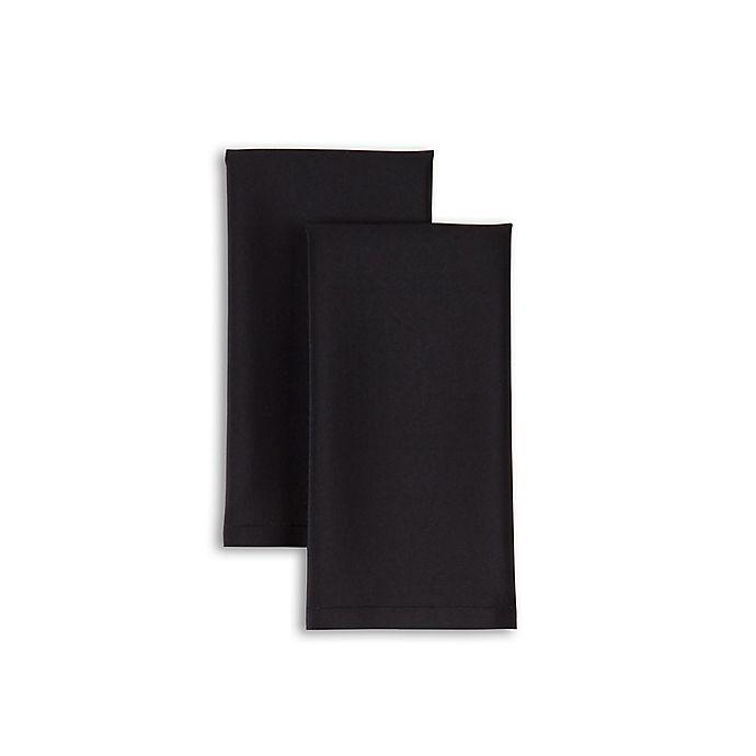 Alternate image 1 for Essex Napkins in Black (Set of 2)