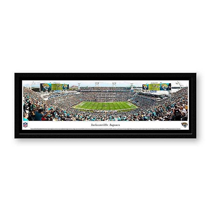 Alternate image 1 for NFL Jacksonville Jaguars Panoramic Stadium Print with Select Frame