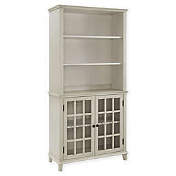 Linon Home Largo Display Cabinet in Antique White