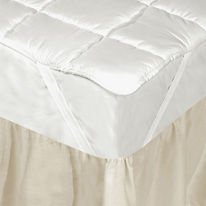 Alternate image 1 for Downtown Company Silk Filled Queen Mattress Pad