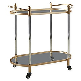 Signature Design By Ashley Cordland Bar Cart in Clear/Gold