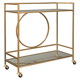 Signature Design By Ashley Jackford Bar Cart in Antique Gold