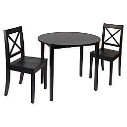 Silverwood Murphy 3-Piece Dining Set with Drop-Leaf Table
