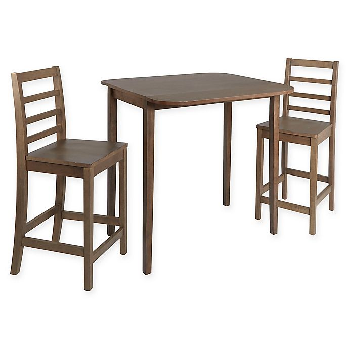 Awesome Silverwood Murphy 3 Piece Pub Height Dining Set With Drop Interior Design Ideas Greaswefileorg