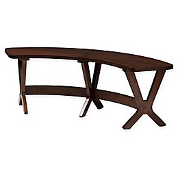 Baxton Studio® Merlyn Bench in Walnut