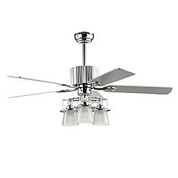 Safavieh Parlin 52-Inch 3-Light Ceiling Fan in Chrome