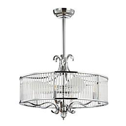 Safavieh Geneve 13-Inch 6-Light Ceiling Fan in Chrome