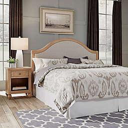Home Styles Cambridge King Headboard & Nightstand in White Wash