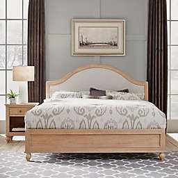 Home Styles Cambridge California King Bed & Nightstand in White Wash