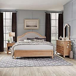 Home Styles Cambridge King Bed, Dresser w/ Mirror & Nightstand in White Wash