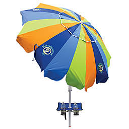 Margaritaville® 7.5-Foot Multicolor Beach Umbrella with Table