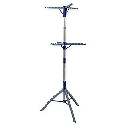 Honey-Can-Do® 2-Tier Tripod Drying Rack in Blue/Chrome