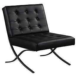 Relax-A-Lounger Partha Bounded Leather Armchair in Black