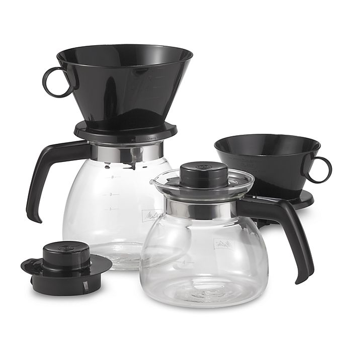 Melitta Pour Over Coffee Makers With Glass Carafe Bed