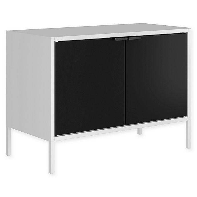 Alternate image 1 for Manhattan Comfort Smart TV Stand in White/Black