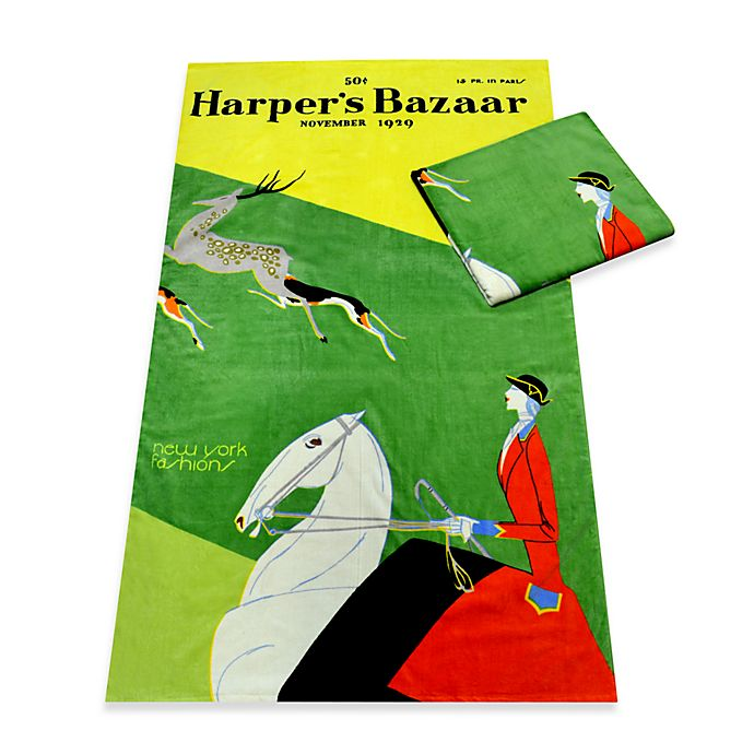 Alternate image 1 for Harper's Bazaar™ New York Fashions Cotton Beach Towel
